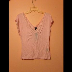 NEW The Limited Medium Light Pink V-Neck Blouse